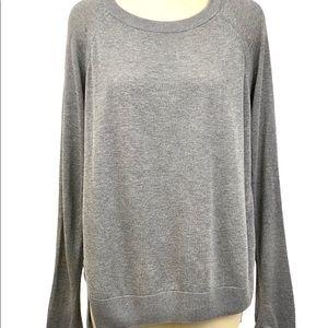 Lululemon Sweater Long Sleeve High Low Crew Gray